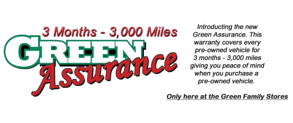 Green Family Stores >> Green Assurance Warranty At Green Toyota Green Toyota