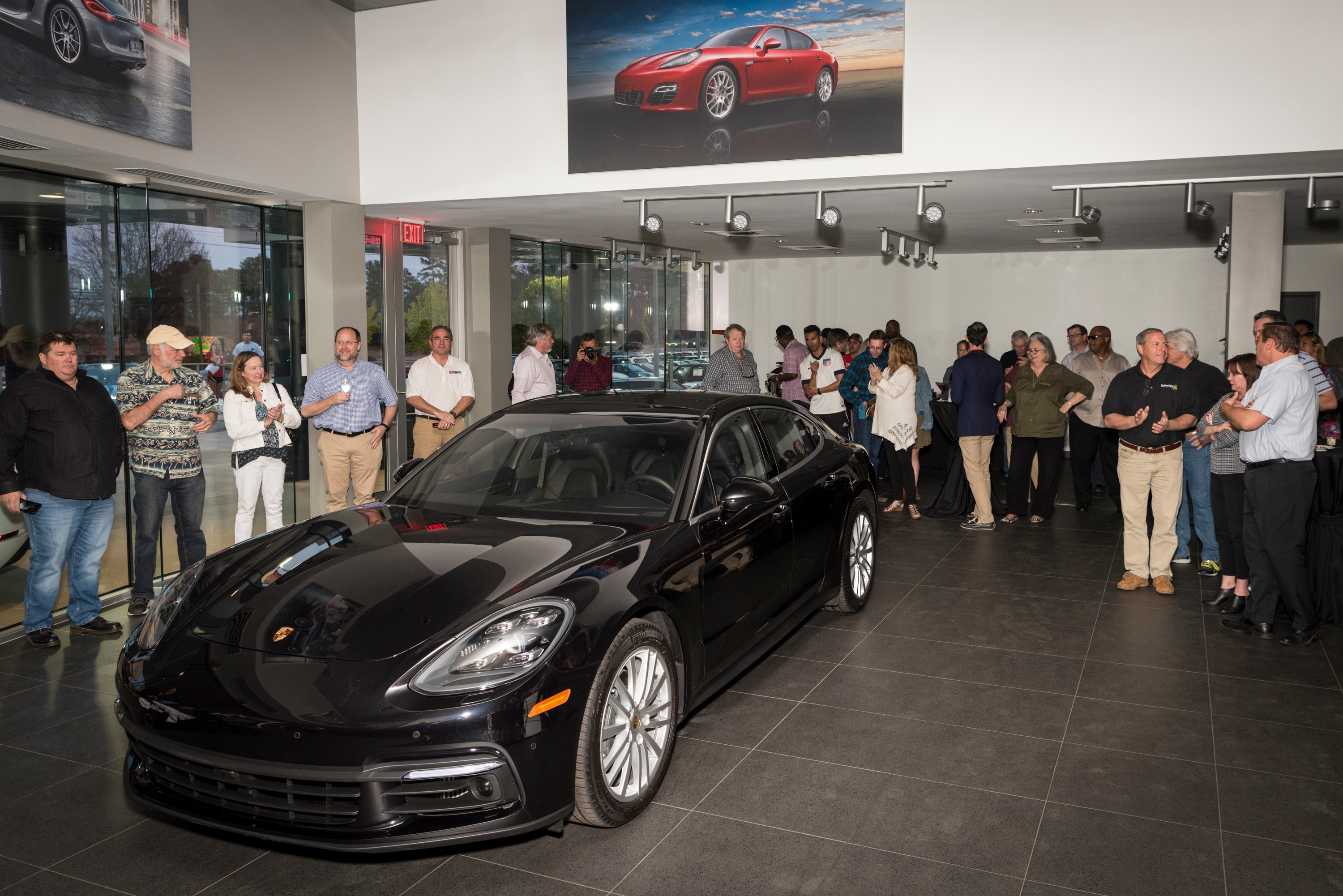 Recently porsche of greenville held a special event where guests could be some of the very first people to see the all new 2018 porsche panamera turbo