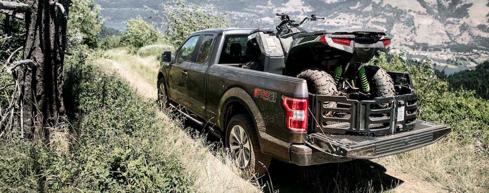 2019 Ford F-150 Towing a Four-Wheeler