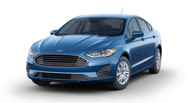 2019 Blue Ford Fusion