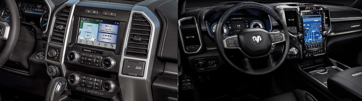 2019 Ford F-150 vs. 2019 Ram 1500 Interior Comparison