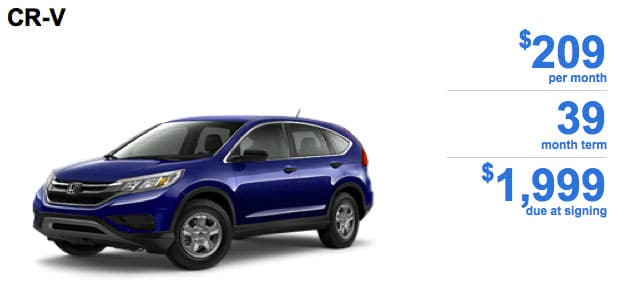 2015 CR V CVT 2WD LX Featured Special Lease