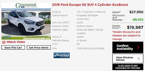 18506 2018 Ford Escape Near Franklin KY