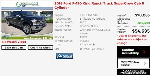 2018 Ford F-150 King Ranch Near Franklin KY