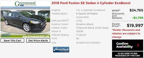 2018 Ford Fusion SE Near Franklin KY