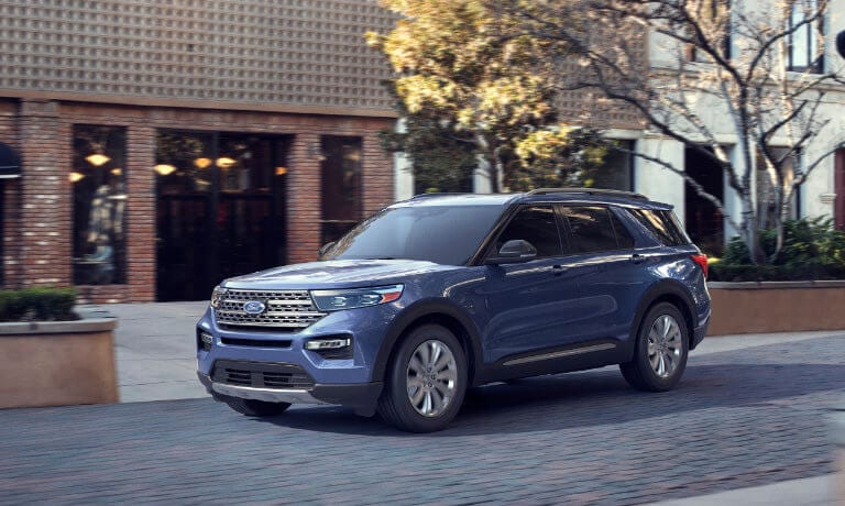 2020 Ford Explorer driving down town