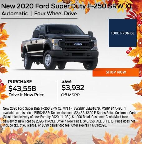 New 2020 Ford Super Duty F-250 SRW XL