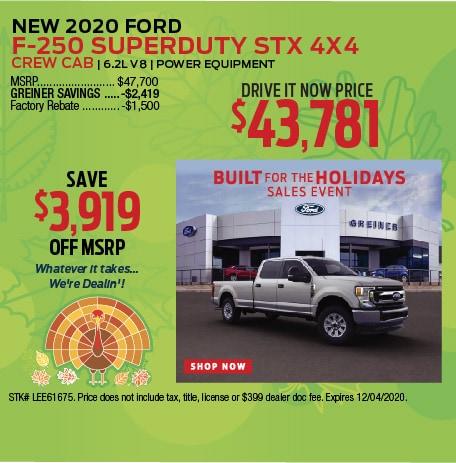 2020 Ford F-250 Superduty STX 4x4