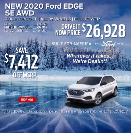New 2020 Ford Edge SE