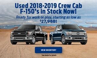 Used 2018-2019 Crew Cab F-150's in Stock Now!