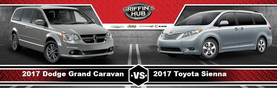 2017 dodge grand caravan vs 2017 toyota sienna in milwaukee wi griffins hub cdjr. Black Bedroom Furniture Sets. Home Design Ideas