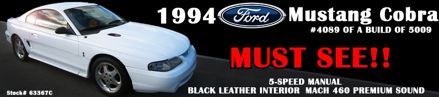 1994 Ford Mustang Cobra at Griffin Ford