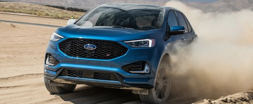Blue Ford Edge
