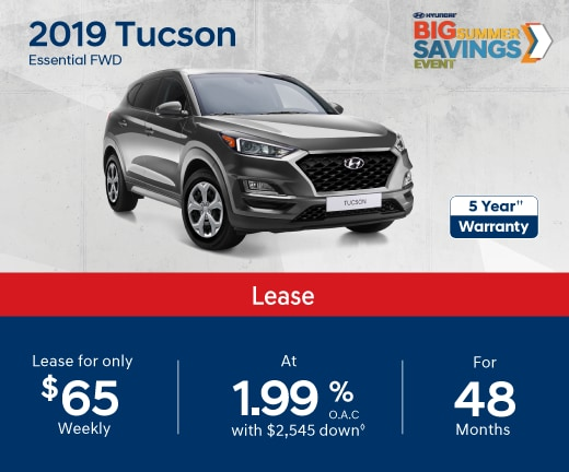 2019 Tuscon Special Offer