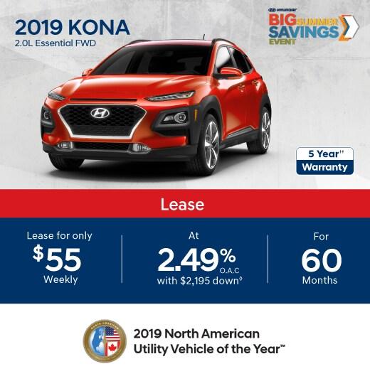 2019 KONA Special Offer