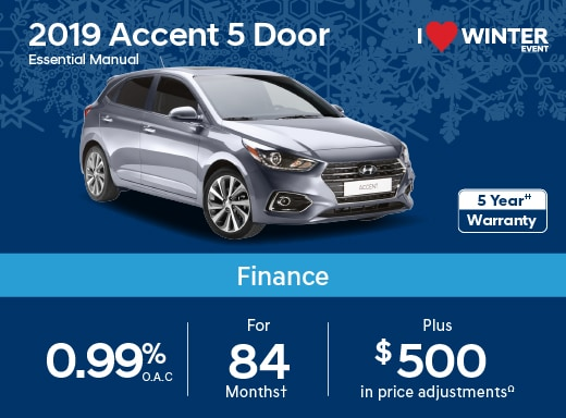 2019 Accent 5 Door Special Offer