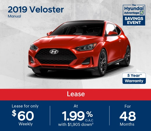 2019 Veloster Special Offer