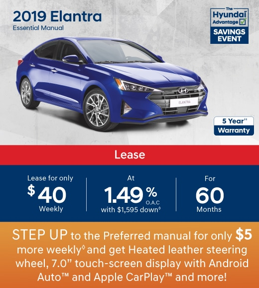 2019 Hyundai Elantra Special Offer