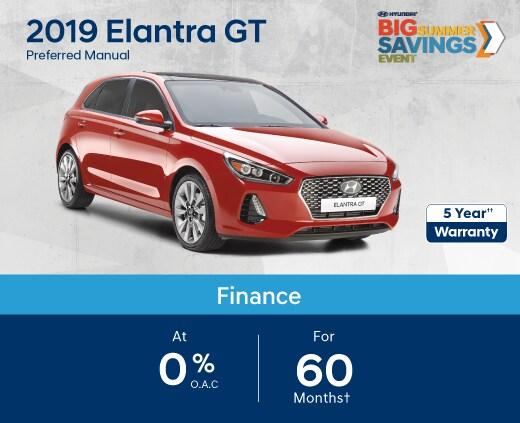 2019 Elantra GT Special Offer