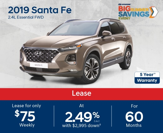 2019 Santa Fe Special Offers