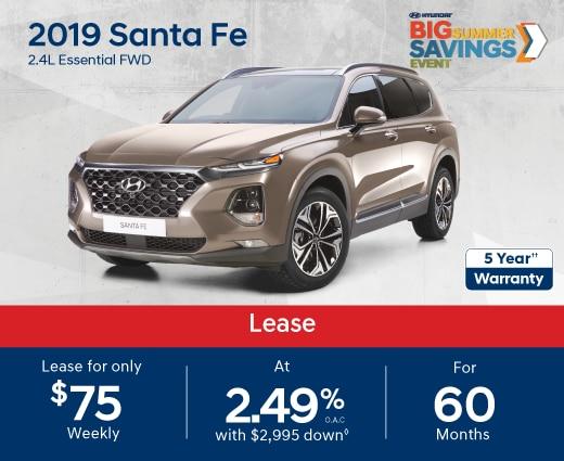 2019 Santa Fe Special Offer