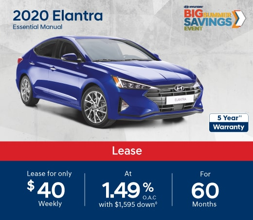 2020 Hyundai Elantra Special Offer