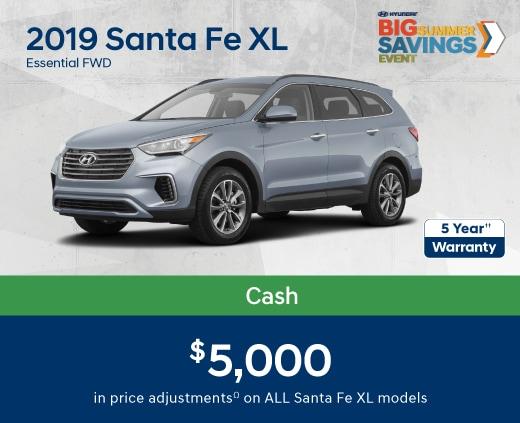 2019 Santa Fe XL Special Offers