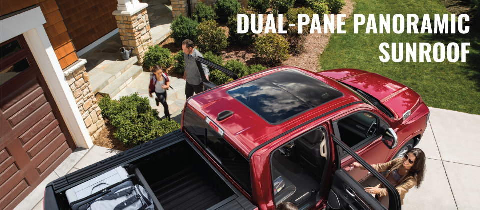 The All New 2019 Ram 1500 - Dual-Pane Panoramic Sunroof