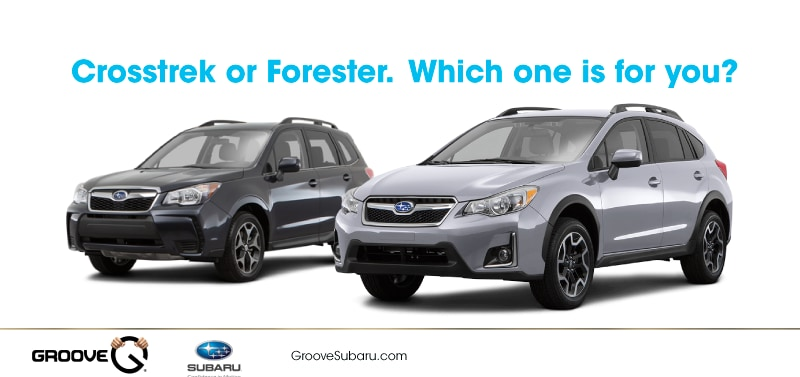 subaru crosstrek vs subaru forester which one is right for you. Black Bedroom Furniture Sets. Home Design Ideas