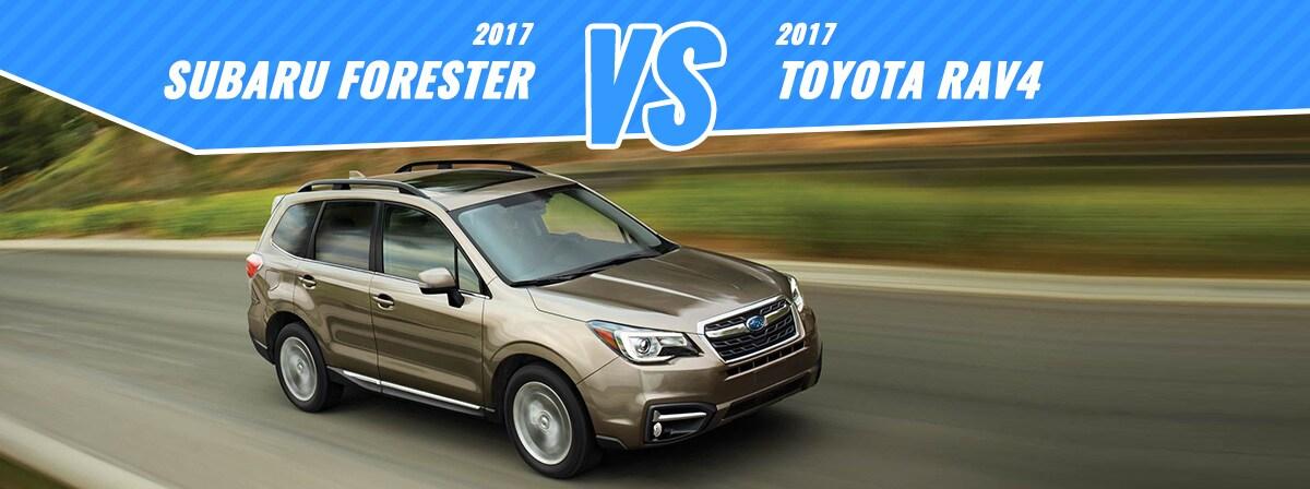 2017 Toyota RAV4 vs Subaru Forester  Englewood CO  Denver