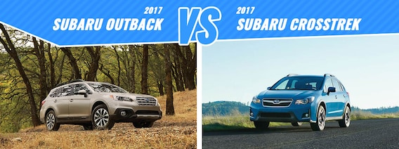 Subaru Crosstrek Vs Outback >> Compare New 2017 Subaru Outback Vs Crosstrek Englewood Co