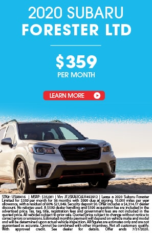 LEASE A 2020 SUBARU FORESTER FOR $359 A MONTH