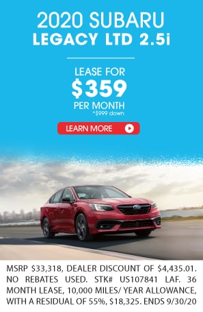 LEASE A 2020 SUBARU LEGACY FOR $359 A MONTH