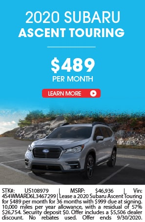 LEASE A 2020 SUBARU ASCENT FOR $489 A MONTH