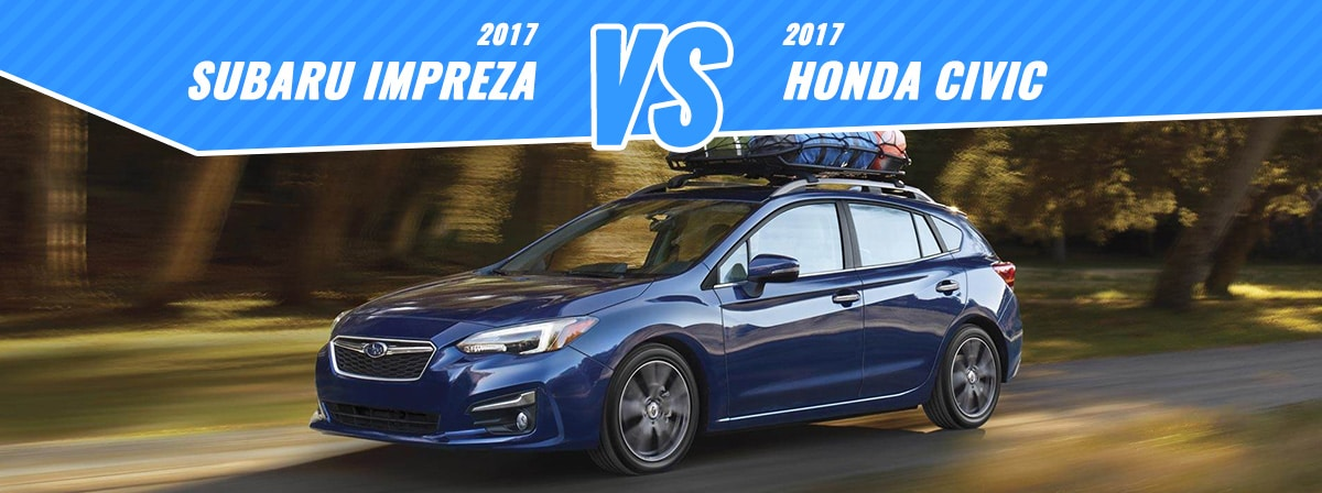 New 2017 Honda Civic vs Subaru Impreza  Denver Subaru  Englewood CO