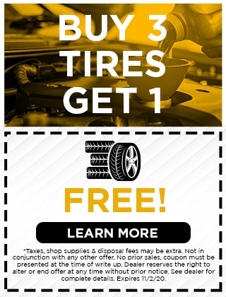 Buy 3 Tires Get One for FREE!