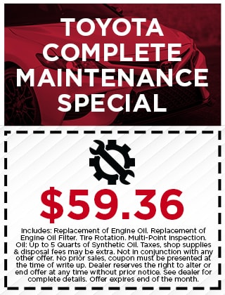 Toyota Complete Maintenance Special