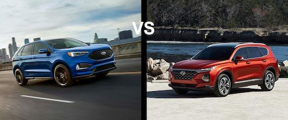 Santa Fe Ford >> Ford Edge Vs Hyundai Santa Fe Ford Groves