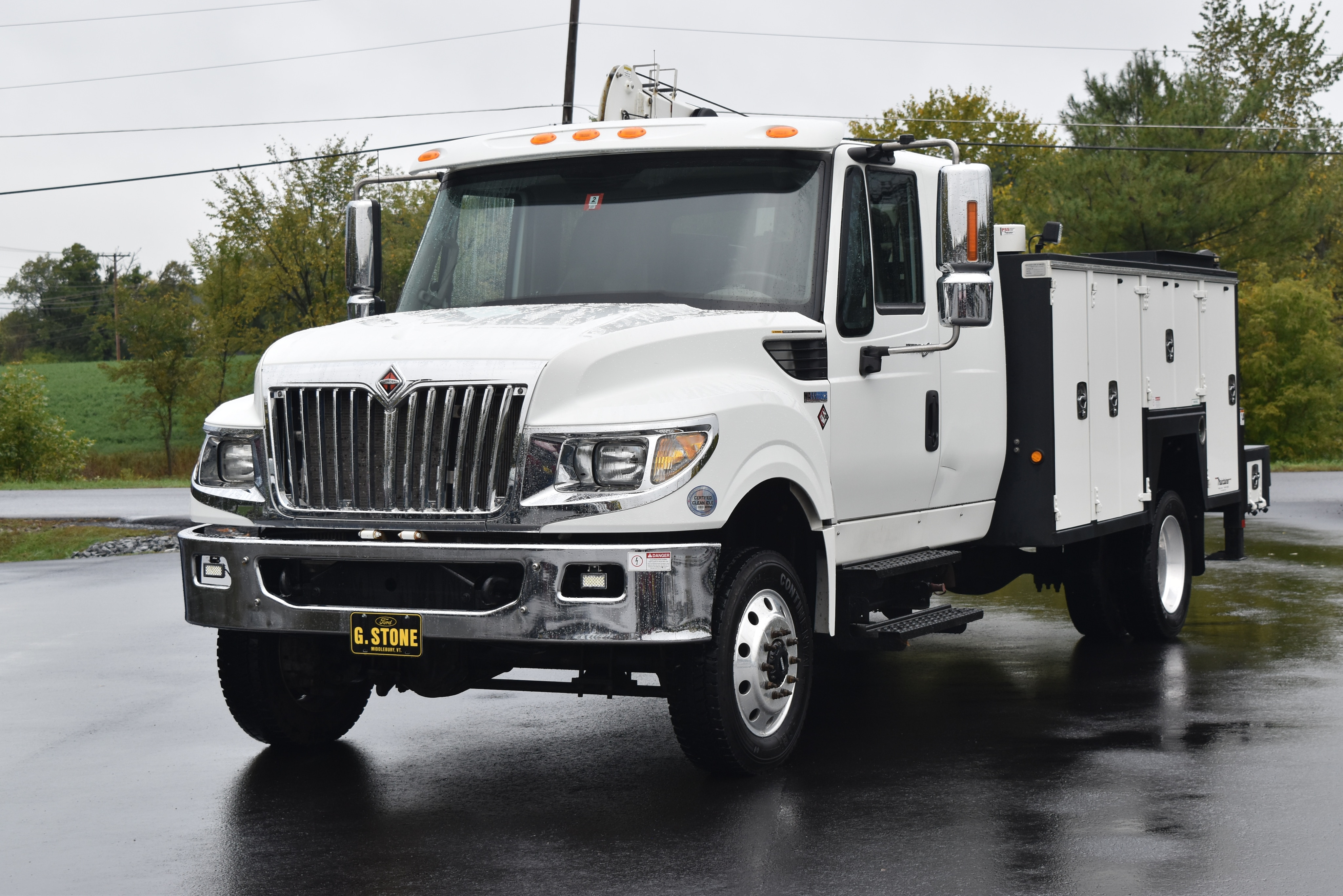 2014 International Terrastar Maintainer Service Truck With Crane Cab and Chassis