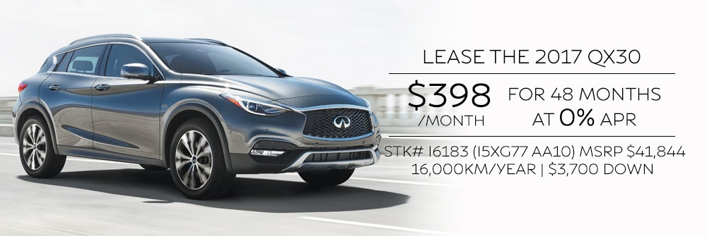 QX30 offers in Ontario