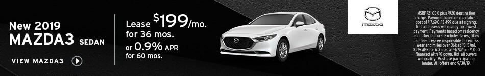 New 2019 Mazda3 Sedan