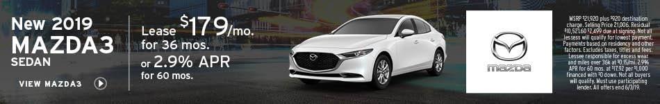 May | 2019 Mazda3 Sedan