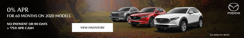 0% APR for 60 months on 2020 Models