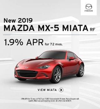 New 2019 Mazda MX-5 Miata RF