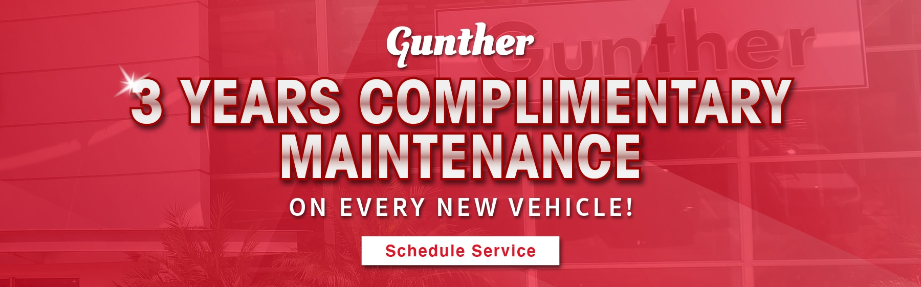 3 years free maintenance on every new vehicle.