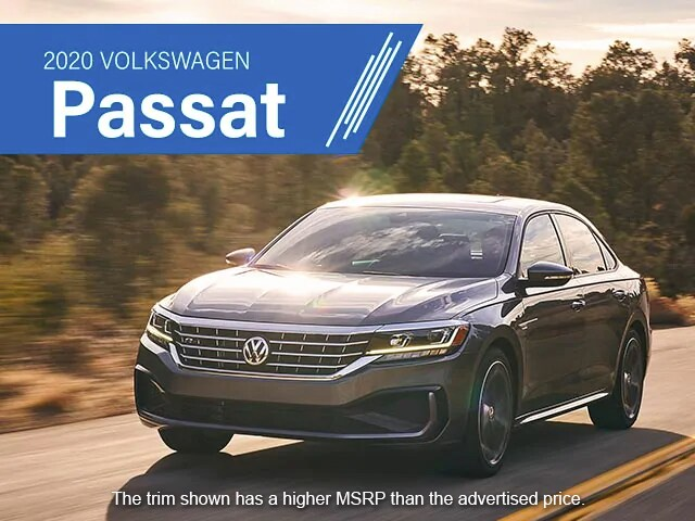 2020 Volkswagen Passat. The trim shown has a higher MSRP than the advertised price.
