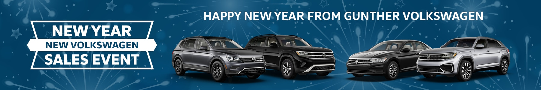 New year, new Volkswagen sales event. Happy New Year from Gunther Volkswagen.