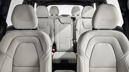 interior view of the three-row seating in the 2020 volvo xc90