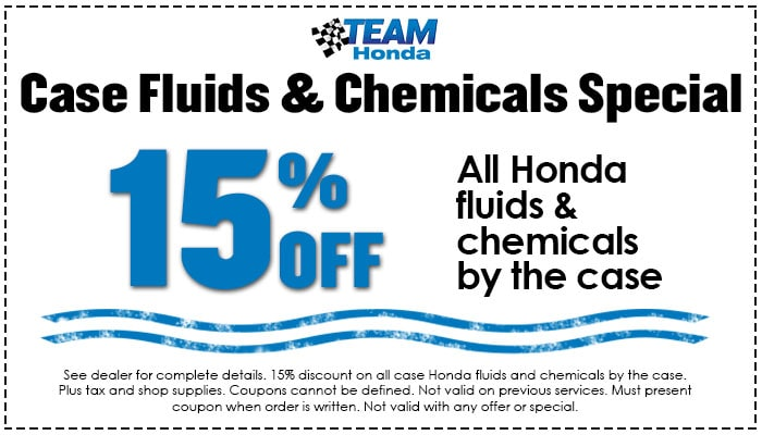 15% Off Fluids & Chemicals
