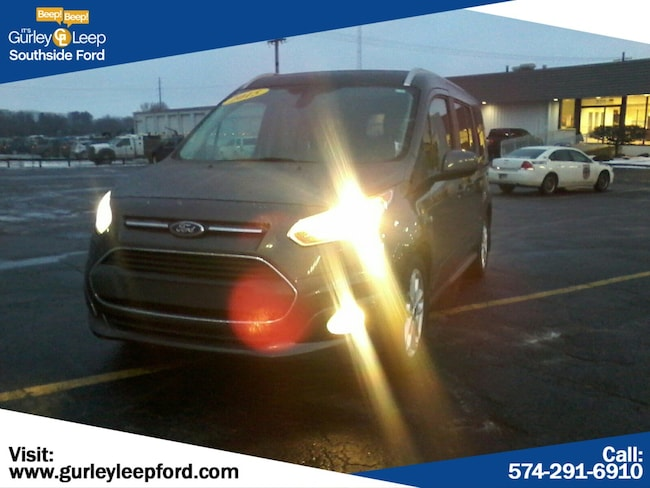 Certified Used 2015 Ford Transit Connect Wagon Titanium Full-size Passenger Van in South Bend, IN